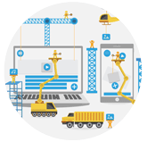 Mobile and cloud applications - construction