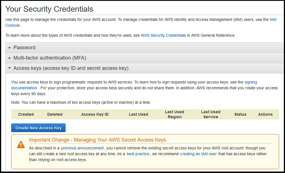 Configuring AWS Cloud Storage