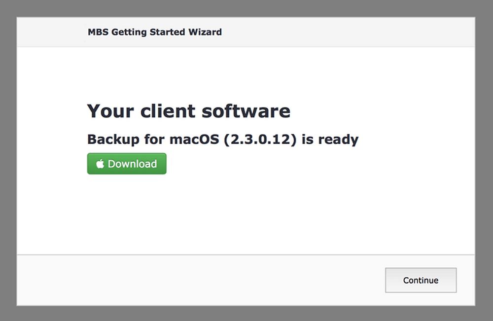 Managed Backup Service Console