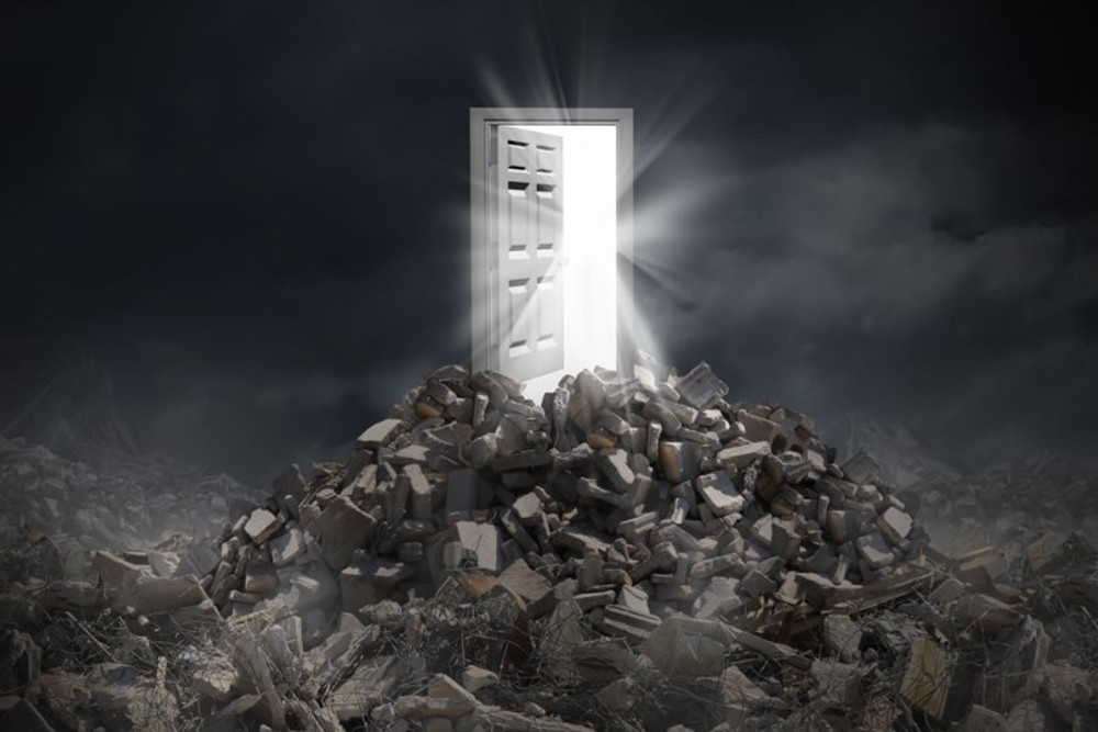 A disaster recovery plan can help show the door through the disaster rubble!
