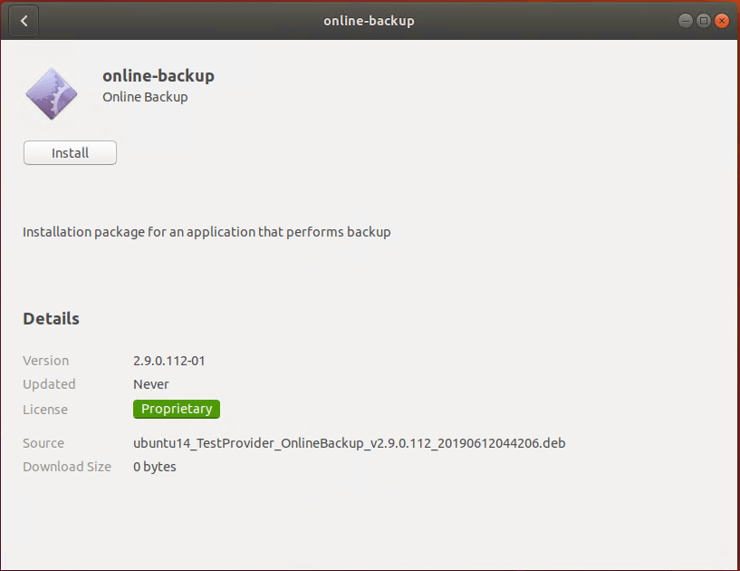 Installing CloudBerry Online Backup Linux