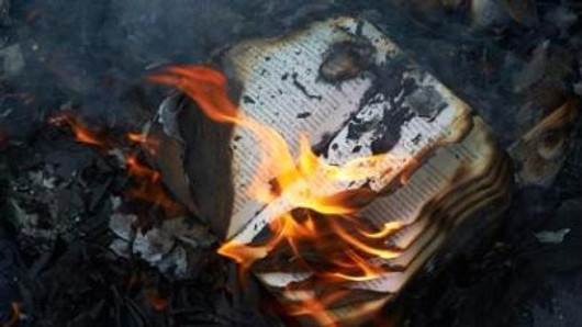 Burnt books are an example of data loss