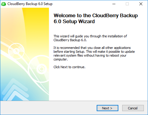Installing CloudBerry Online Backup