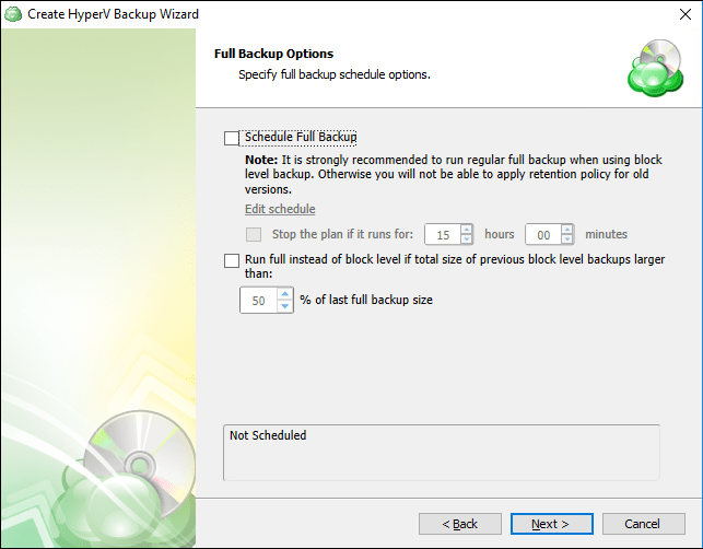 Backing up Hyper-V with CloudBerry