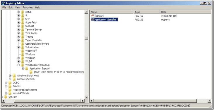 The end result when you register the Hyper-V VSS writer