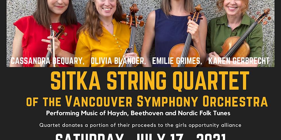 Sitka String Quartet of the the VSO