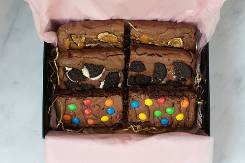 6 BROWNIE PIECES