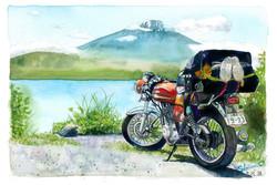 富士山とボルティー