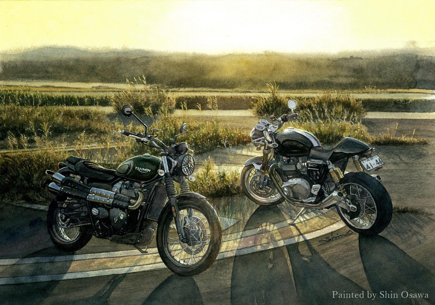 Triumph Scrambler & Thurxton