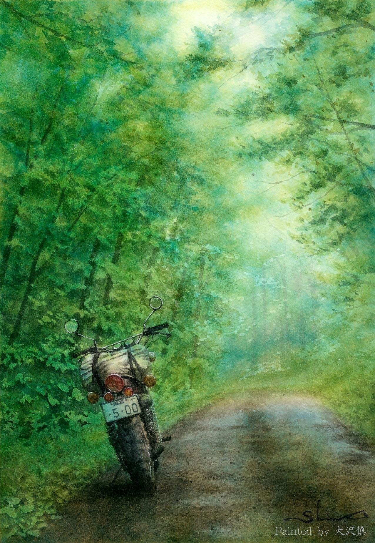 光と雨の曲がり道(XT500)