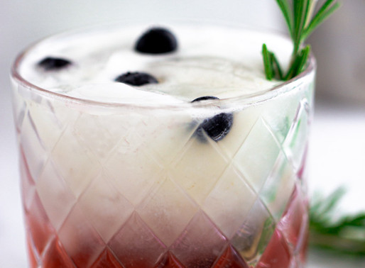 Blueberry Sour Cocktail