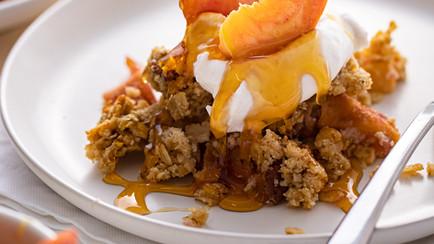Peach Crisp - gluten free