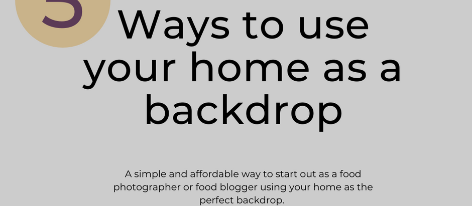 A great option for new food photographers and bloggers starting their business.