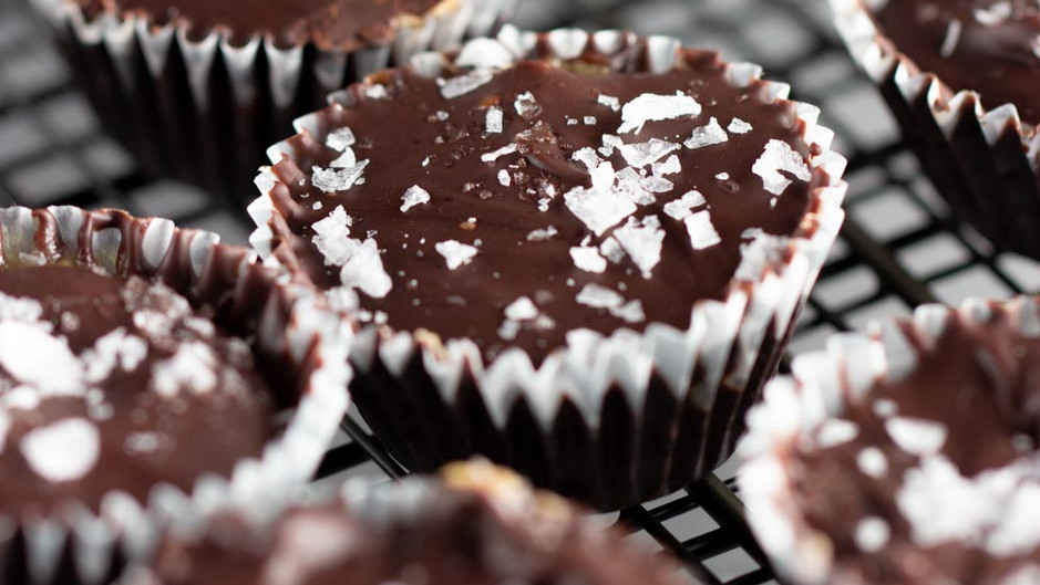 Chocolate Almond-Tahini Cups