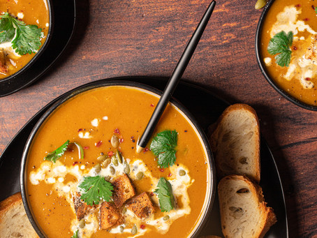 Spicy Pumpkin Soup - dairy free