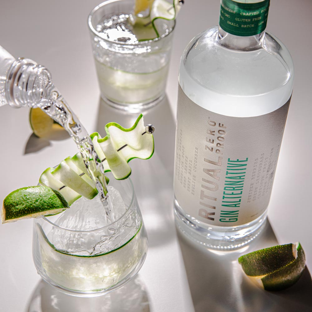 Cucumber Lime  Gin Cocktail no alcohol
