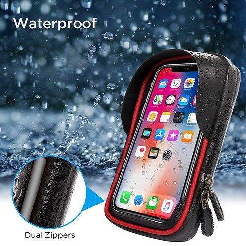 Waterproof Bike Phone Mount Holder Pouch Bag, Universal Bicycle Rear Handlebar