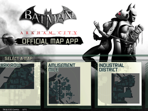 Batman Arkhman City Official Map App