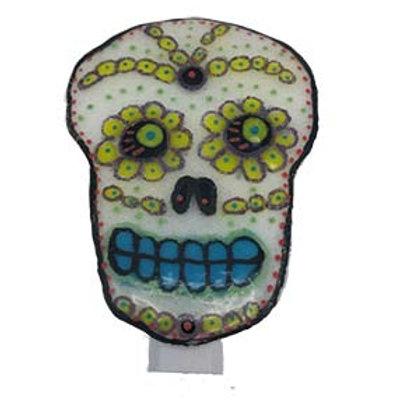 Sugar Skull Fused Glass Night light