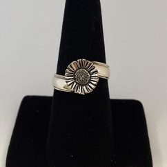 Wedding Band Turned into Special Flower Ring