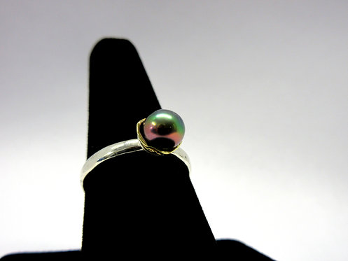 Water Lily Ring - Peacock (S)