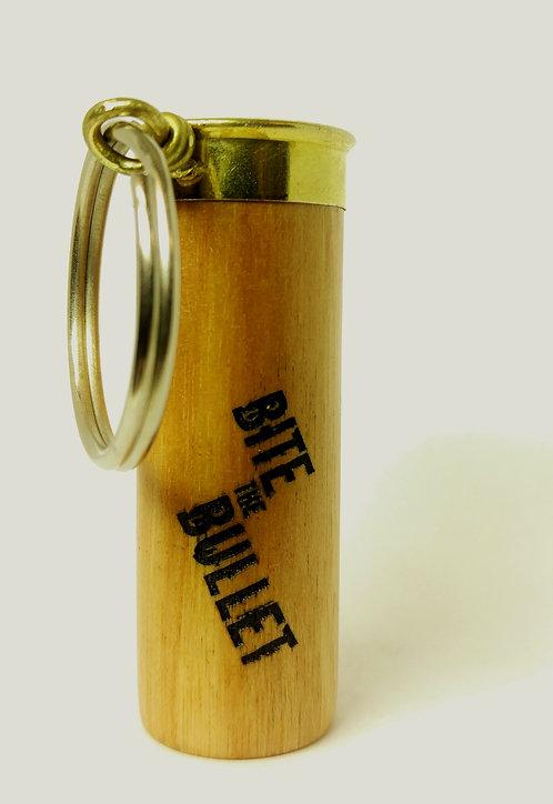 12 guage wooden keychain