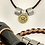 Thumbnail: Leather Necklace with Shotgun Pendant back in sterling silver