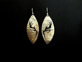 Midnight Deer Earrings