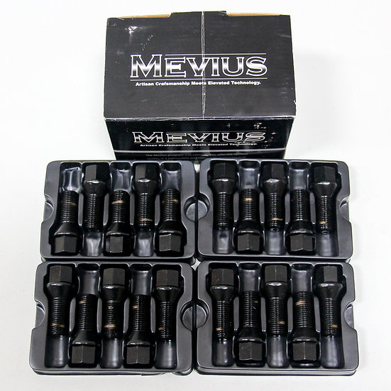 Mevius Lug Bolts Cone Seat M14x1.50 27mm Black