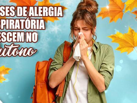 Crises de alergia respiratória crescem no outono.