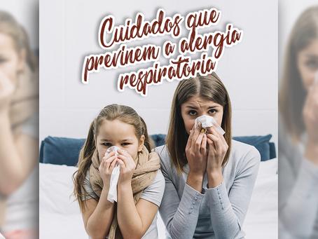 Simples cuidados na rotina de casa previnem a alergia respiratória
