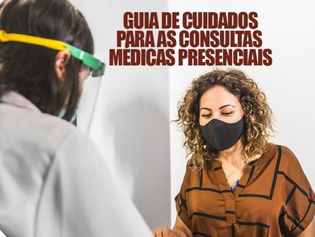Guia de cuidados para as consultas médicas presenciais