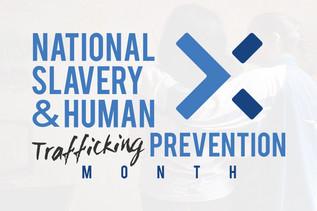 National Human Trafficking Awareness Month