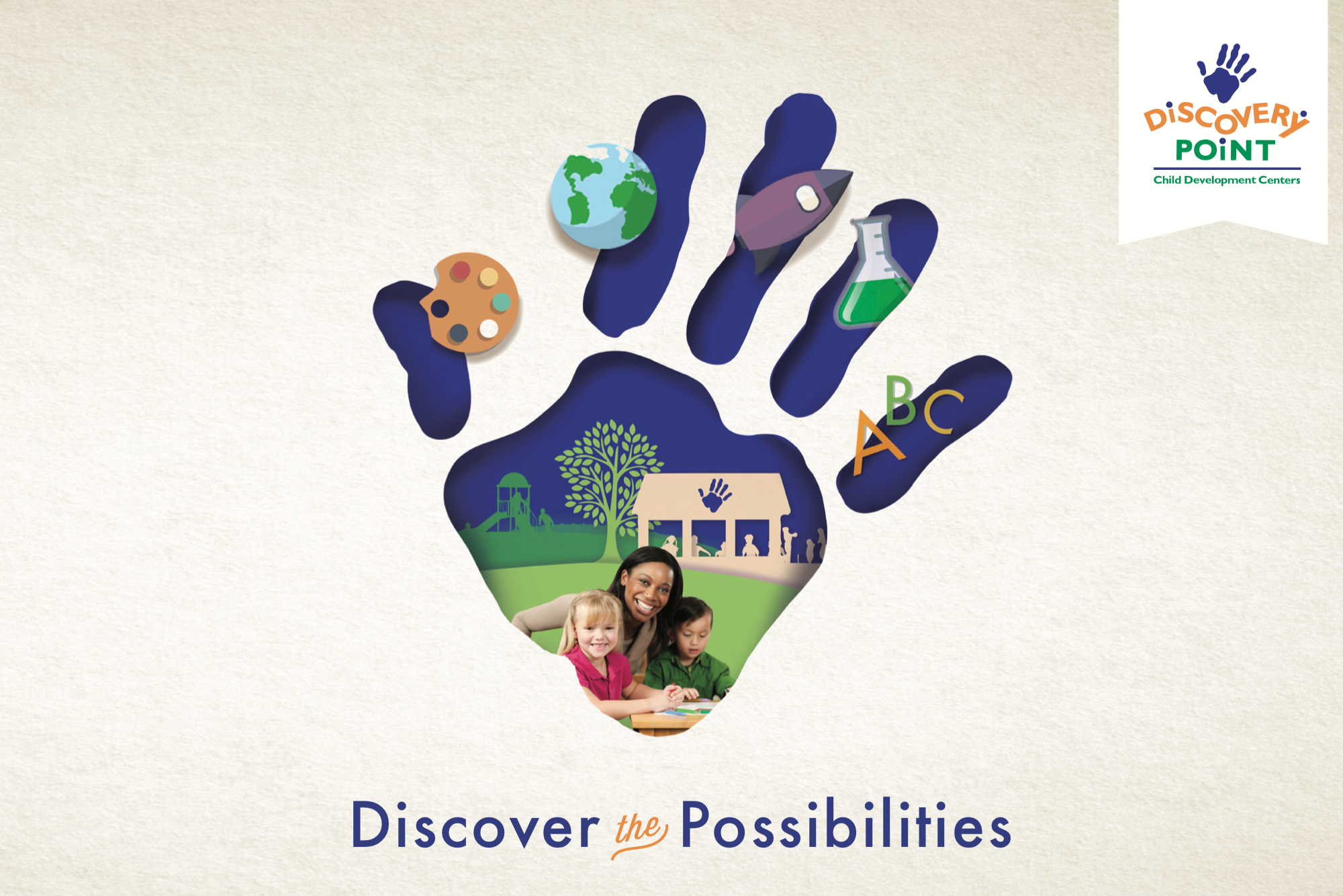 Discovery Point Handprint logo design