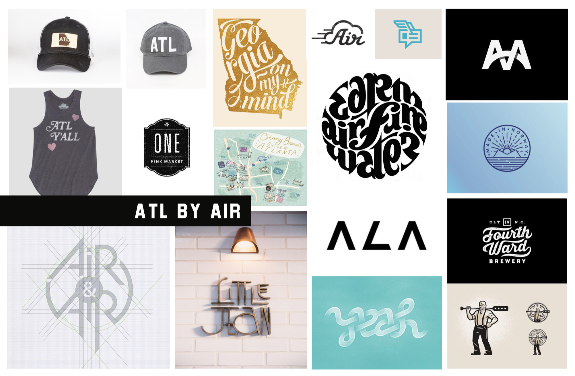 ATL By Air moodboard