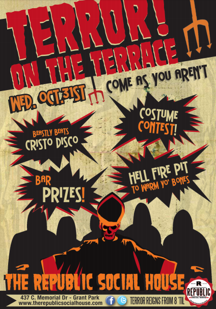 Terror on the Terrace advertisement