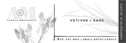Vetiver and Sage Candle Label