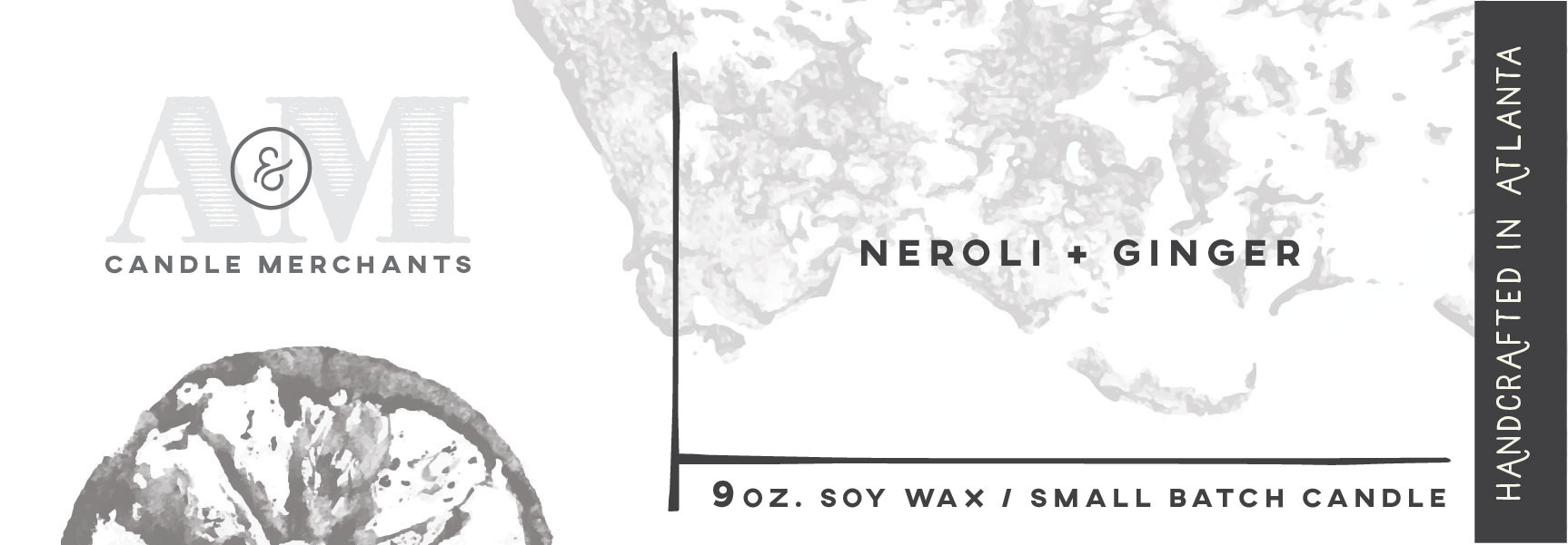 Neroli Ginger Candle Label