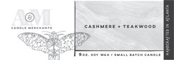 Cashmere and Teakwood Candle Label