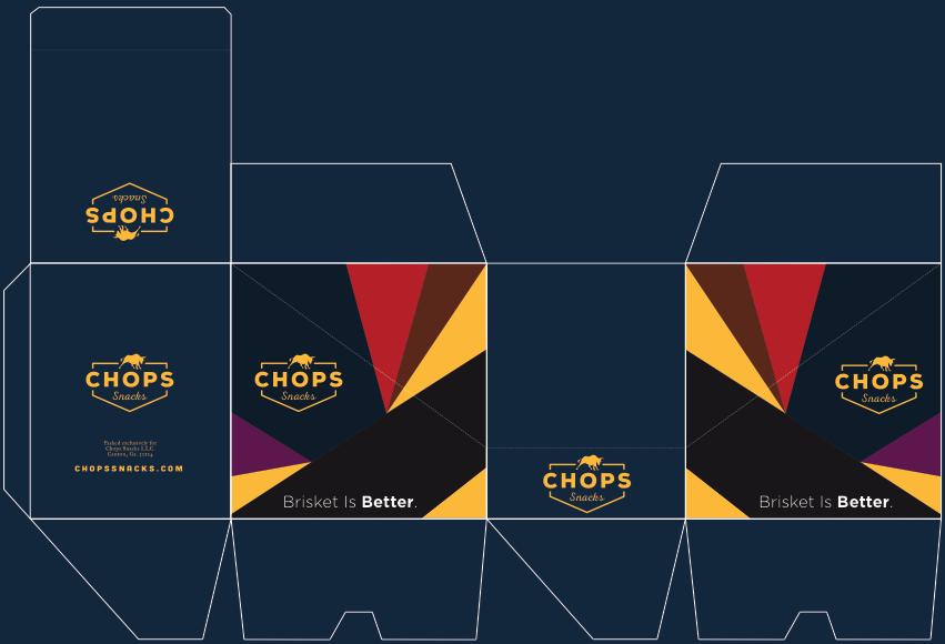 Chops snacks packaging box