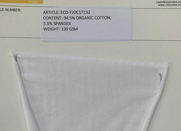 94.5% ORGANIC COTTON 5.5% SPANDEX