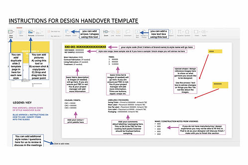 GARMENT DESIGN HANDOVER TEMPLATE