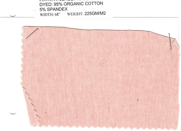 JERSEY NATURAL DYED:  95% ORGANIC COTTON 5% SPANDEX
