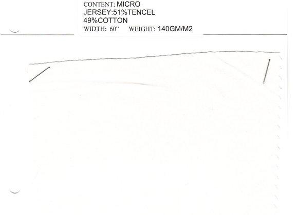 MICRO JERSEY:51%TENCEL 49%COTTON