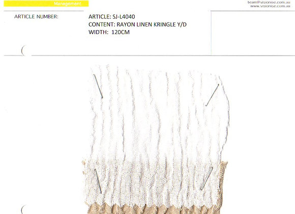 Rayon Linen Kringle Y/D
