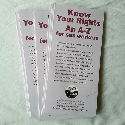 Know Your Rights for sex workers