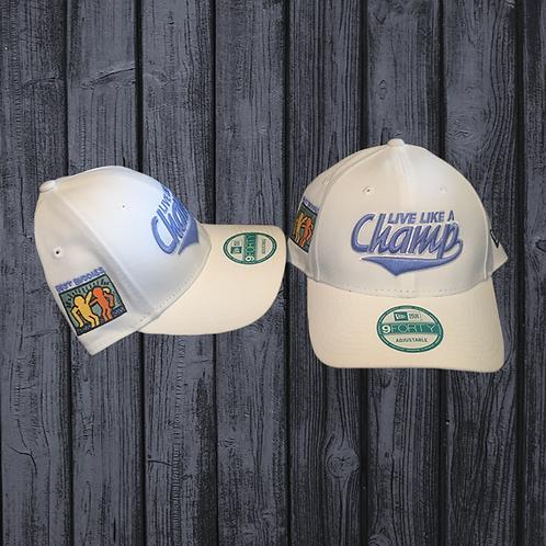 Live Like a Champ Hat-White