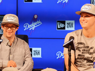 Joc Pederson and his brother Champ unveil new hat to benefit people with disabilities