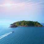 Spend the night on this actual private island in the Arabian Sea.