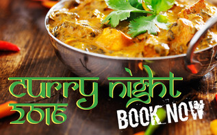 Curry Night 3rd December 2016. Tickets Available NOW!